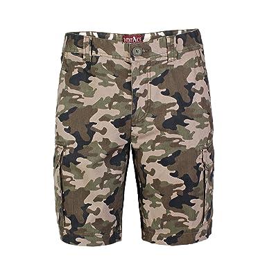 445a9458035f westAce Herren Armee Cargo Shorts 100% Baumwolle Camouflage Combat Bermuda  Kurz Hose (L