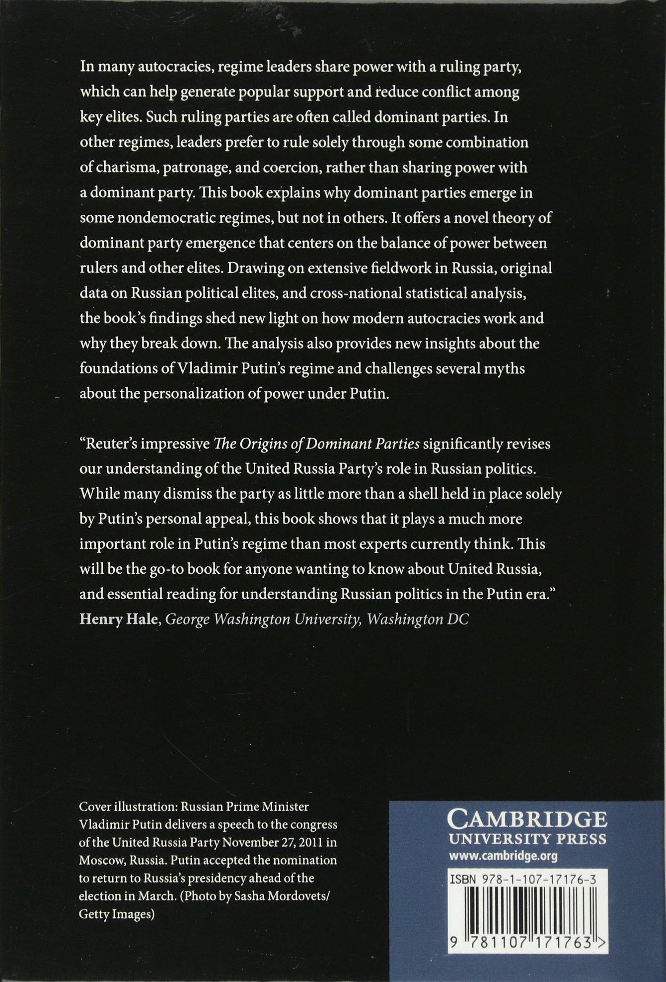 the origins of dominant parties building authoritarian