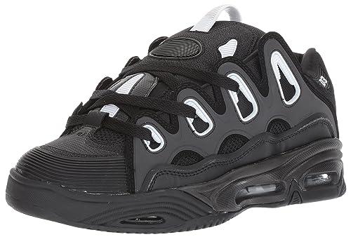 Osiris Shoes D3 2001 - Black White Black, Black/White/Black, 7
