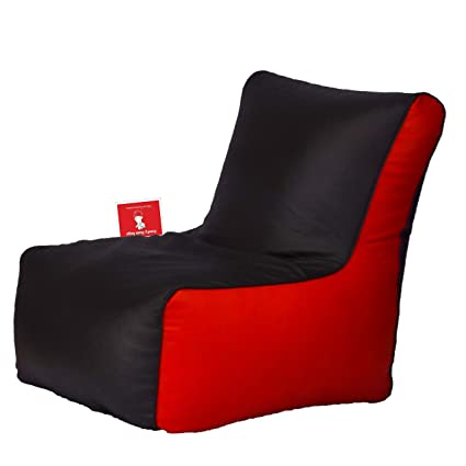 Comfy Bean Bags Bean Chair XXL Bean Bag Without Fillers Cover (Black And  Red)