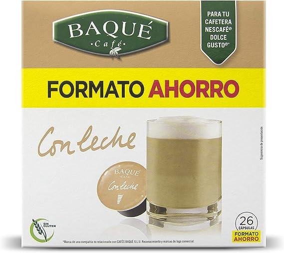 Cafés Baqué 26 Capsulas Compatibles Dolce Gusto Con Leche 226 g ...