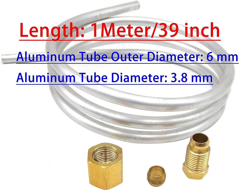 pack of 1 Brass Tube 1 meter long 8mm dia