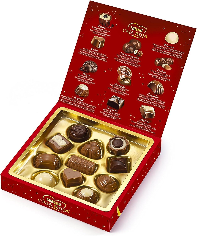Nestlé Caja Roja Bombones de Chocolate - Estuche de bombones 100 gr: Amazon.es: Alimentación y bebidas
