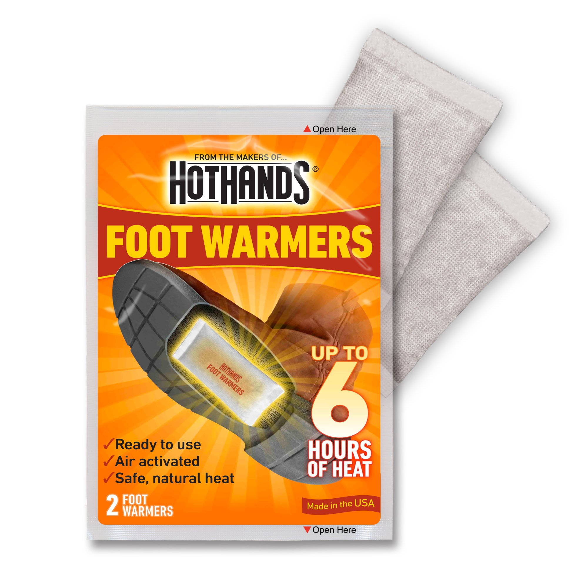 HotHands Foot Warmers - Long Lasting Safe Natural Odorless Air Activated Warmers - Up to 6 Hours of Heat - 40 Pair by HotHands (Image #3)