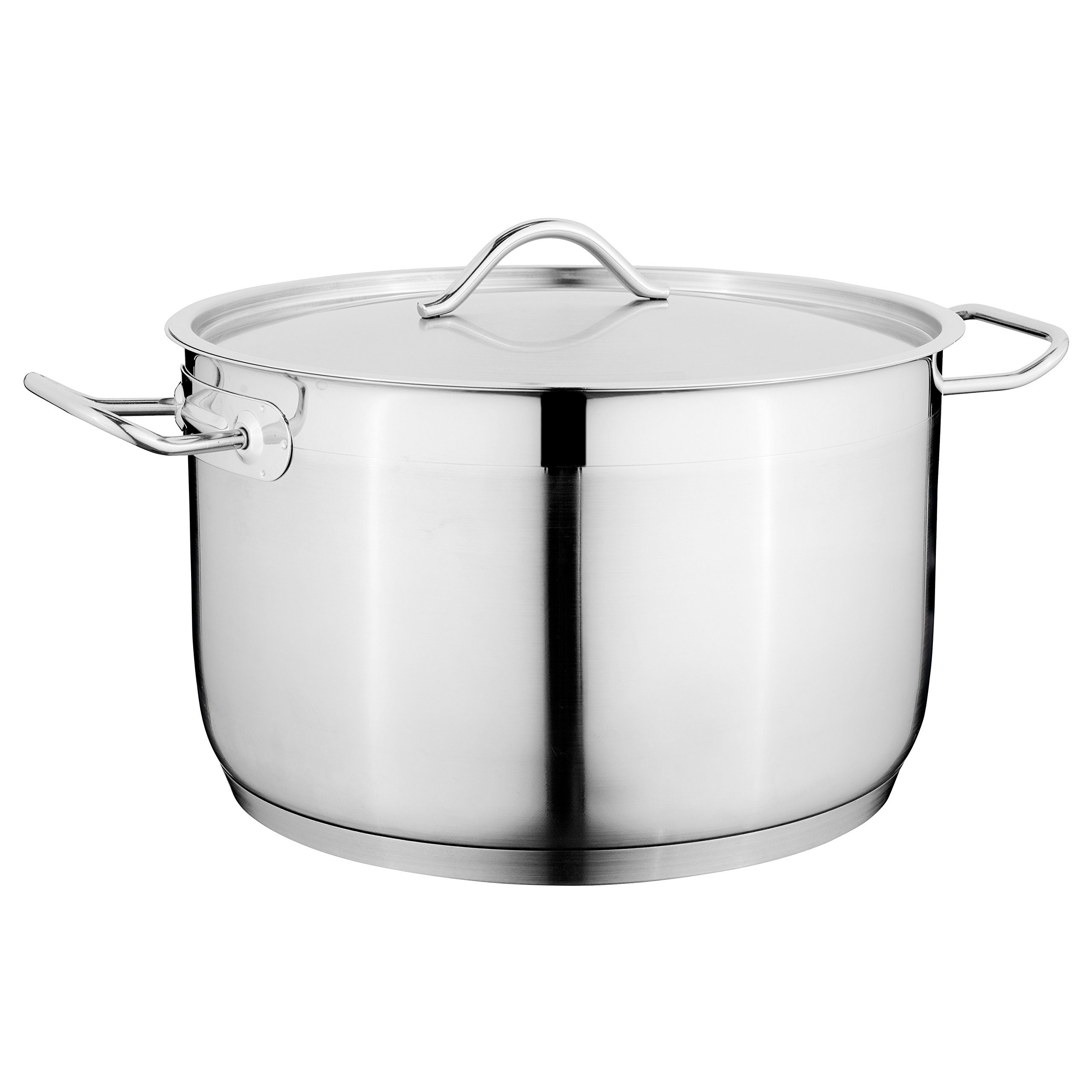 Berghoff Hotel 11'' 18/10 Stainless Steel Covered Casserole, For All Stove-Tops - Dishwasher Safe
