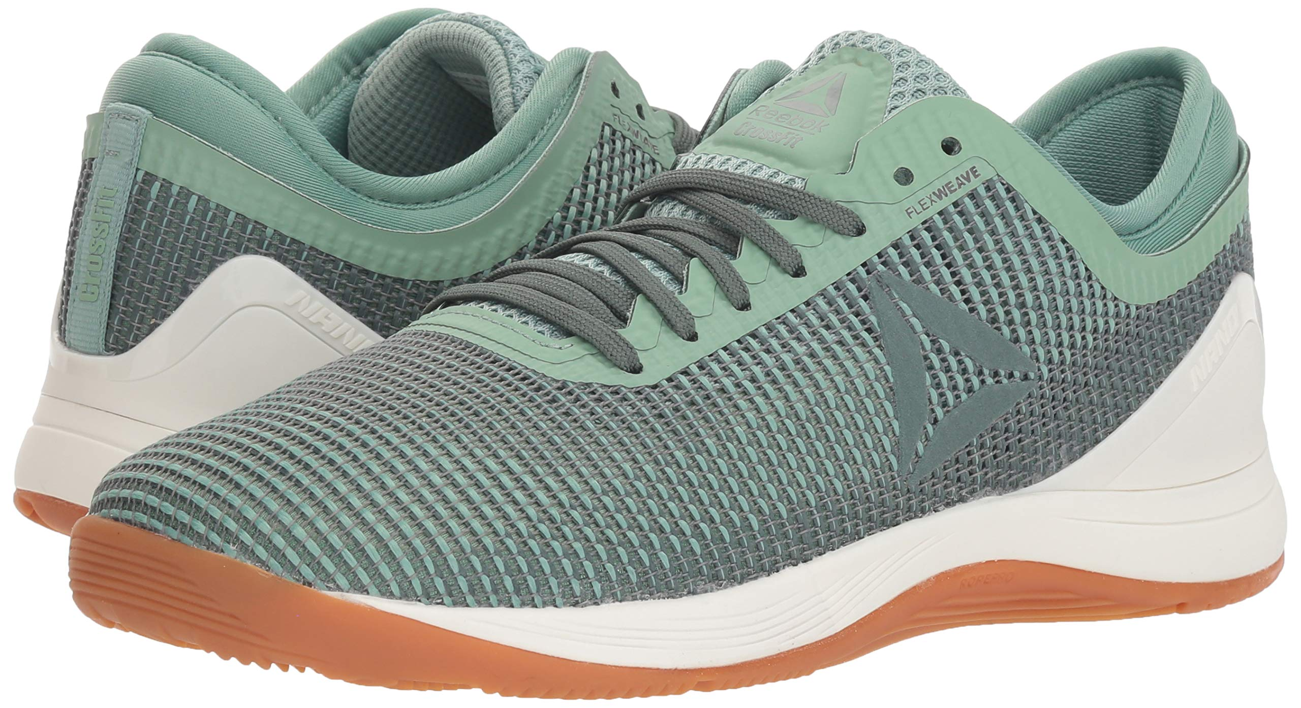 Reebok Women's CROSSFIT Nano 8.0 Flexweave Cross Trainer, industrial green/chalk grey, 5 M US by Reebok (Image #6)