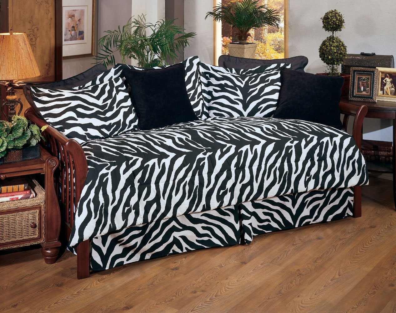 Kimlor Black Zebra Daybed Cover Set