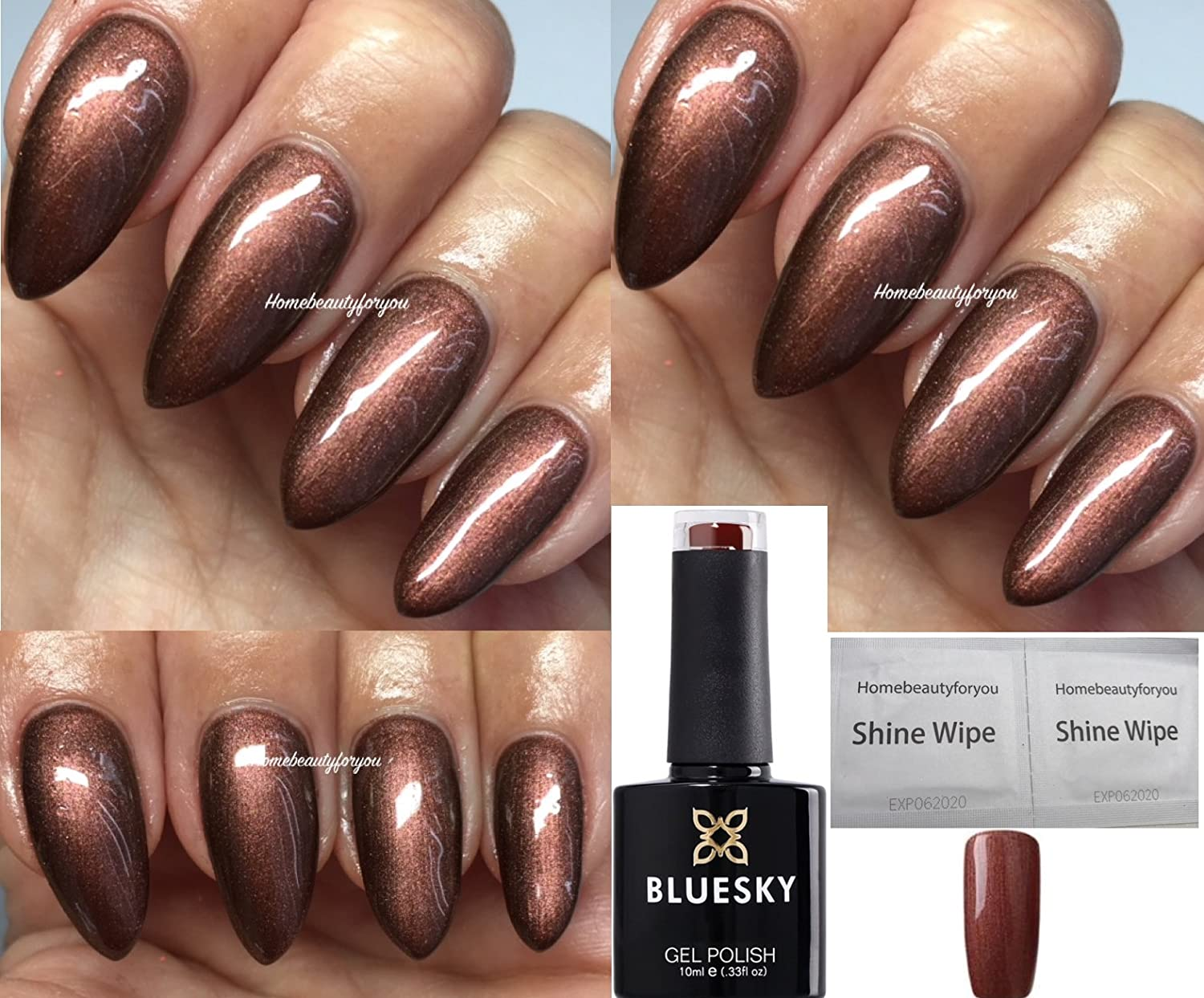 Bluesky 80629 Leather Satchell Craft Culture, Metallic Bronze Brown Nail Gel Polish UV LED Soak Off 10ml PLUS 2 Homebeautyforyou Shine Wipes LTD