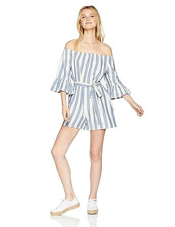 bbc9f7229b48 Amazon.com  Billabong Women s Fun for Now Romper  Clothing