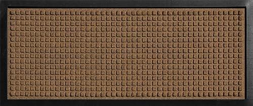 AquaShield Squares Boot Tray, 15 by 36-Inch, Dark Brown