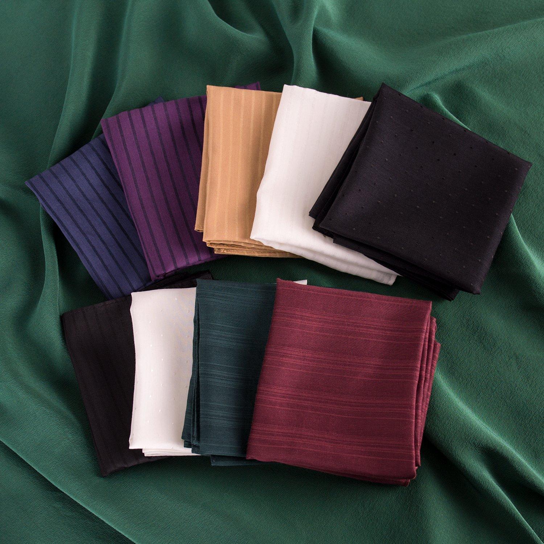 ZESTILK Silk and Cotton Handkerchief (Stripe Black) SCH08 by ZESTILK (Image #4)