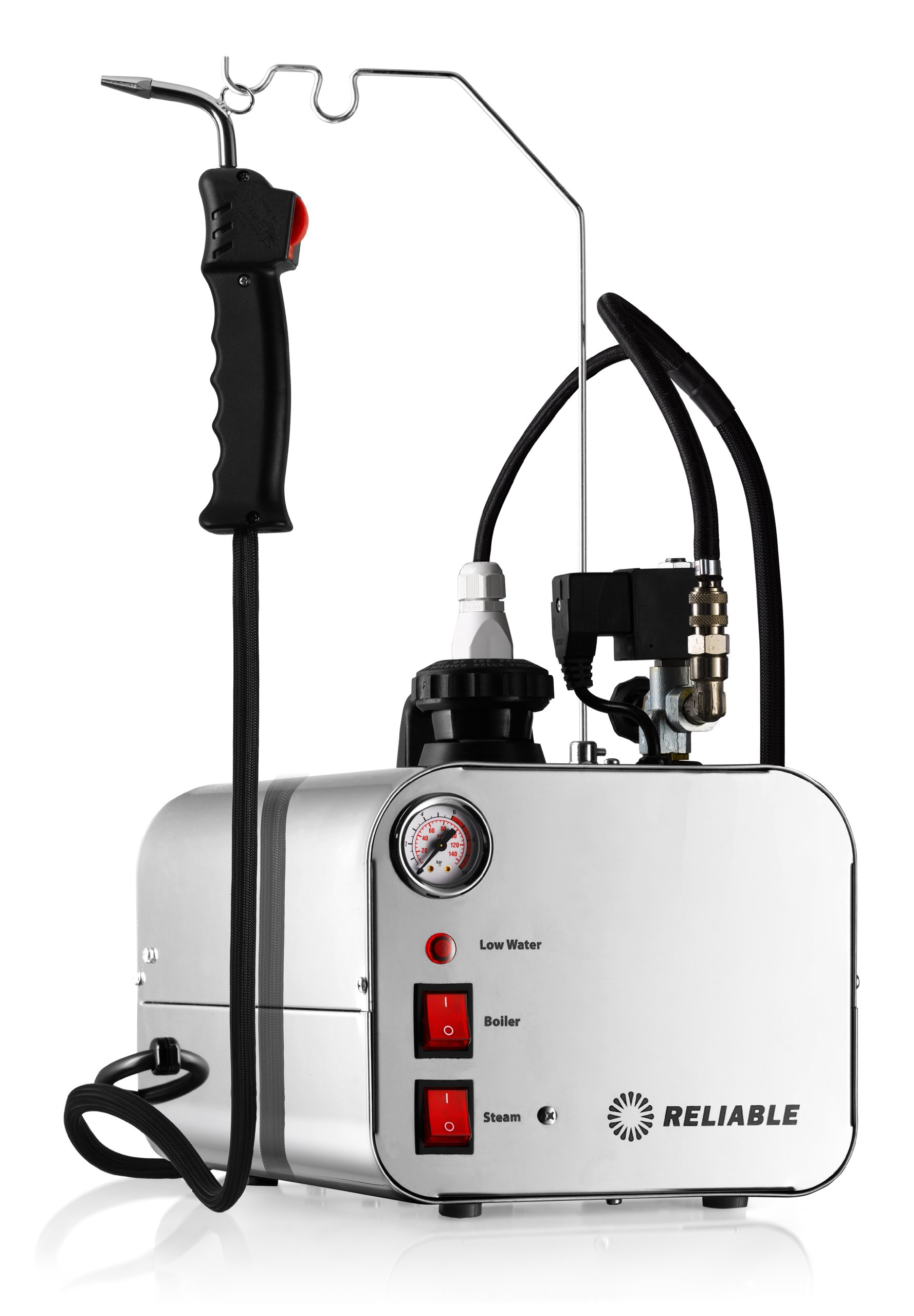 Reliable 5000CD Dental Steam Cleaner 50 PSI Pressure 2.5L Water Capacity, 12-Gauge Heavy-Duty Wiring, Stainless Steel Tank, Up-to 4 Hours of Continuous Steam, Copper Heating Element, 8' Steam Hose