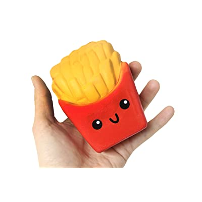 Curious Minds Busy Bags Large French Fries Squishy Slow Rise Junk Food Face - Sensory, Stress, Fidget Toy: Toys & Games