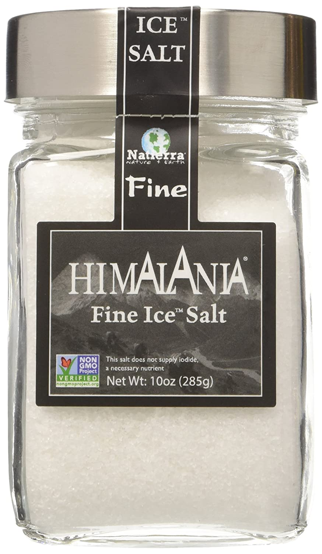 NATIERRA Himalania Himalayan Fine Ice Salt in Glass Jar | Unrefined & Non-GMO | 10 Ounce : Grocery & Gourmet Food