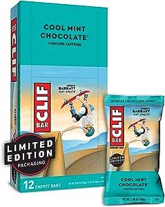 CLIF bar Cool Mint Chocolate (Box of 12), 12 x 68 g
