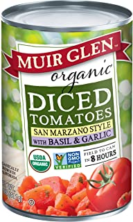 product image for Muir Glen Organic Diced Tomatoes with Basil and Garlic - 14.5 fl oz