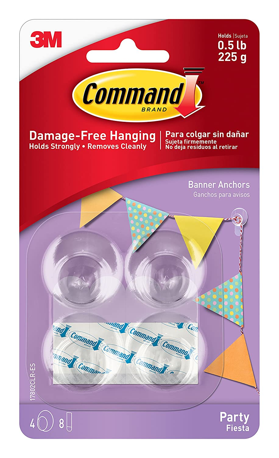 Amazon.com: Command Party Assorted Refill Strips, 12-Mini Clear Strips, 8-Small Clear Strips and 4-Small Foam Strips (17808-ES): Home Improvement