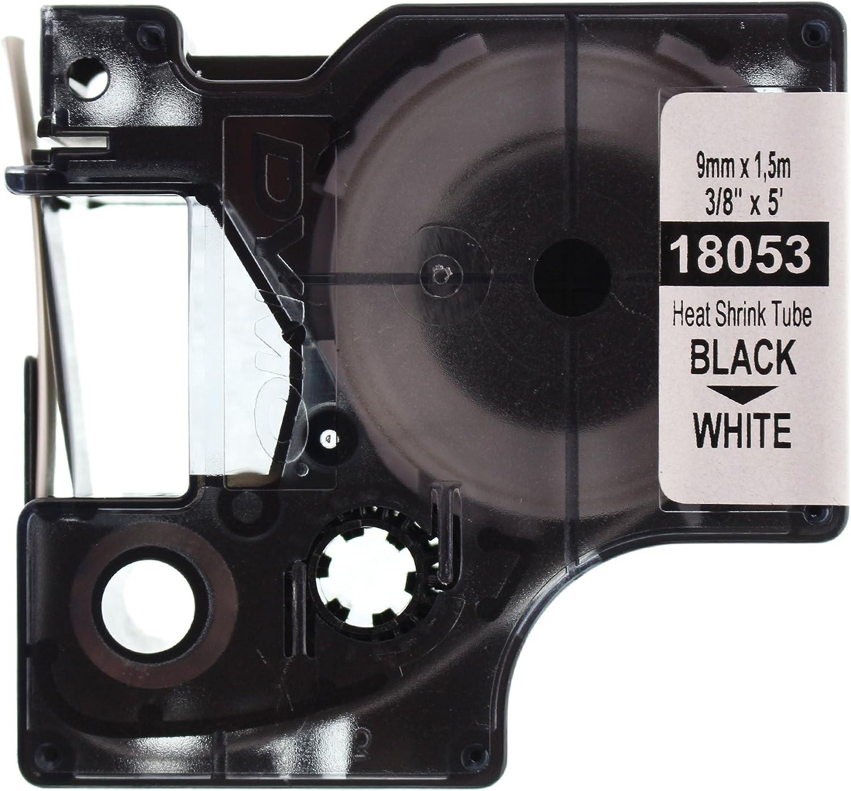Black Print on White 6 mm x 1.5 m Cassette Dymo 18051 RhinoPRO Heat-Shrink Cable Label Tubes