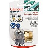 Gilmour 100049168 Acoplamento de braçadeira macho de zinco e latão, 1,5 cm x 1,9 cm