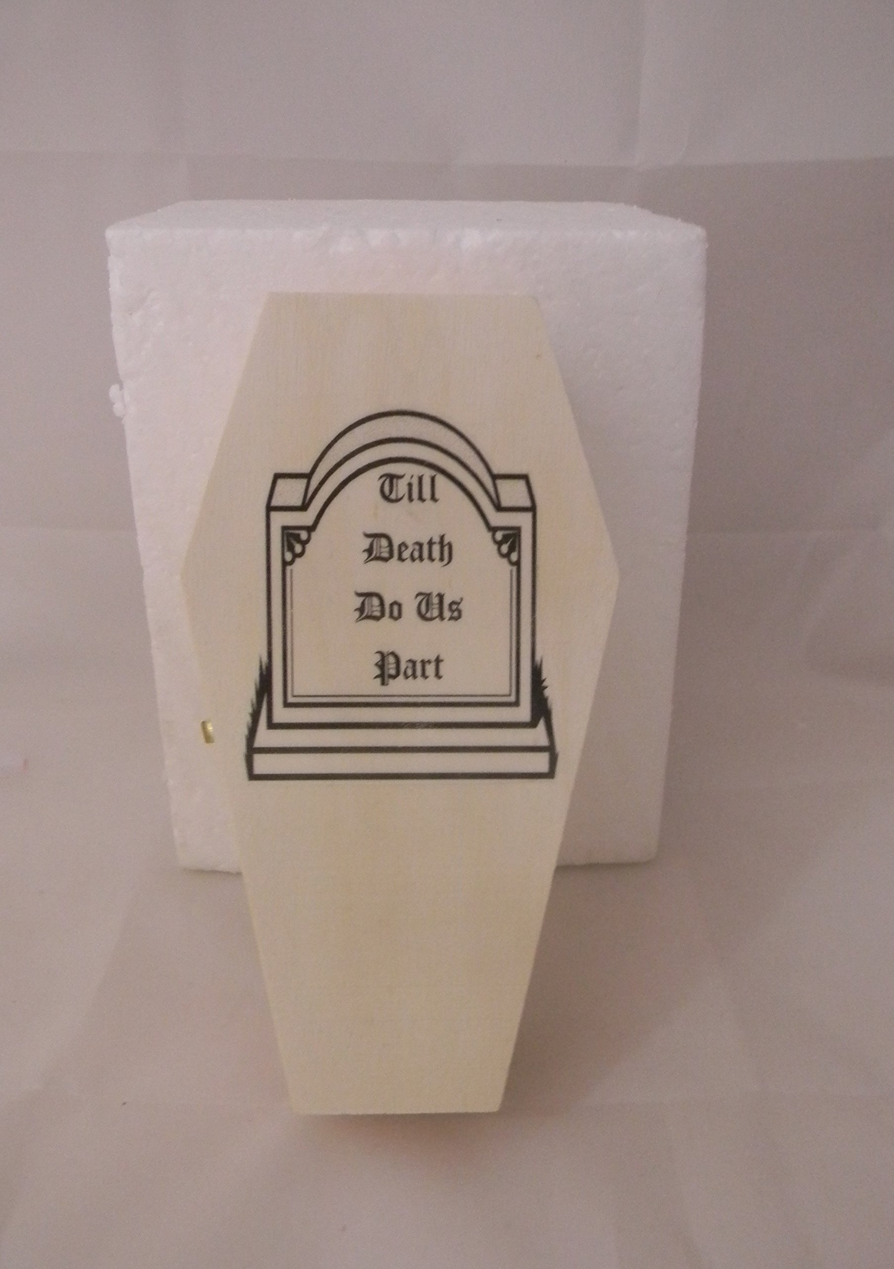 Wedding Party ceremony Gothic Wicca Coffin Tombstone ring bearer pillow Box by Custom Design Wedding Supplies by Suzanne (Image #2)