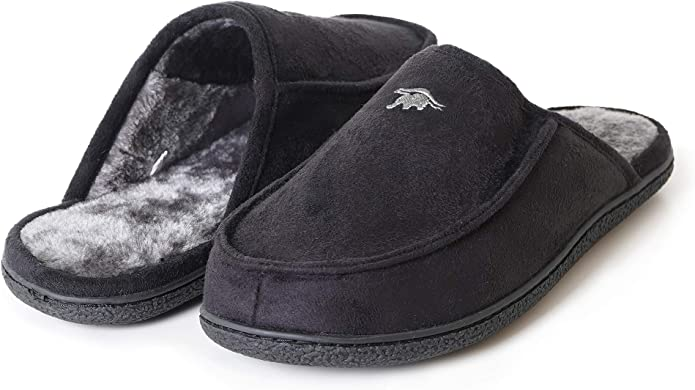 EuropeanSoftest Mens 80-D High Density Comfy Memory Foam Plush House Slippers Slip on Clog Terry Lining House Shoes with Plush Lining Breathable Washable Indoor//Outdoor House Slipper w//Anti Slip Sole