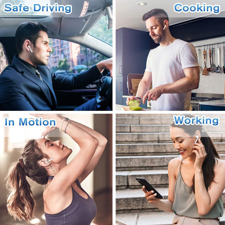 Bluetooth 5.0 Kopfh/örer Mini i12 TWS 3D Stereo Sound Touch Control Pop-Up Auto Pairing f/ür Android//IOS Smartphones Kabellose Ohrh/örer f/ür Sport /& Arbeiten IPX7 Wasserdicht-Wei/ß