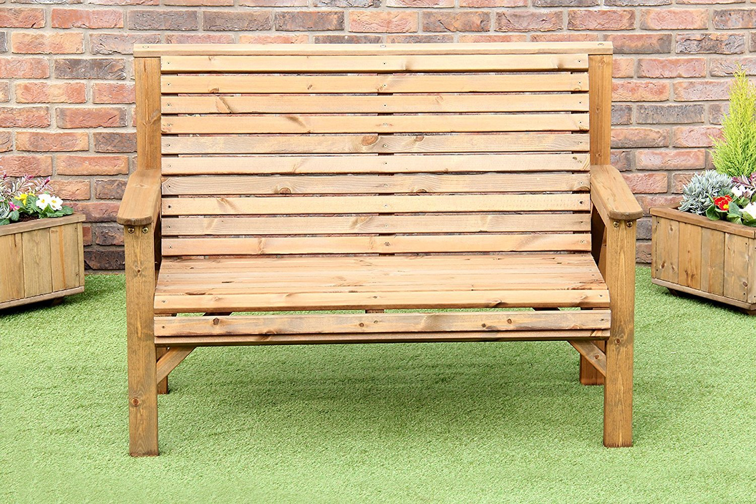 WOODEN GARDEN FURNITURE CHUNKY SOLID FULLY ASSEMBLED WOODEN GARDEN BENCH