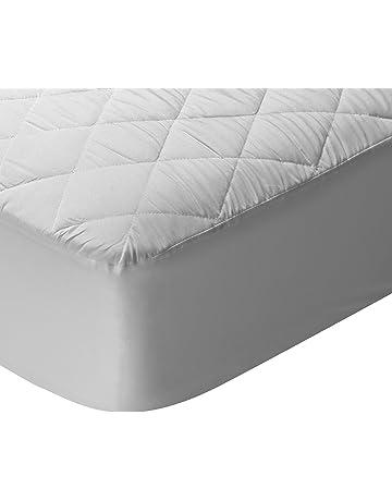Pikolin Home - Protector de colchón acolchado, transpirable, color blanco