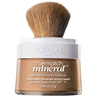 L'Oreal Paris True Match Mineral Loose Powder Foundation, Creamy Natural, 0.35oz