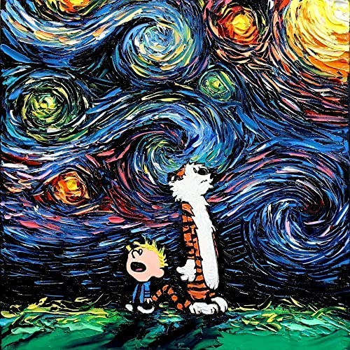Amazon.com: Calvin and Hobbes Inspired Art poster PRINT What If van ...
