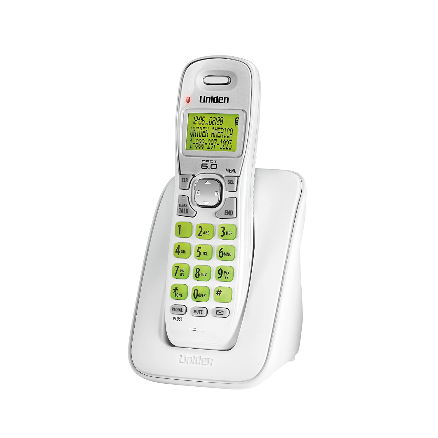 Amazon.com : Uniden DECT 6.0 Cordless Phone with Caller ID and Call Waiting  - White (D1364) : Standard Cell Phone Chargers : Electronics