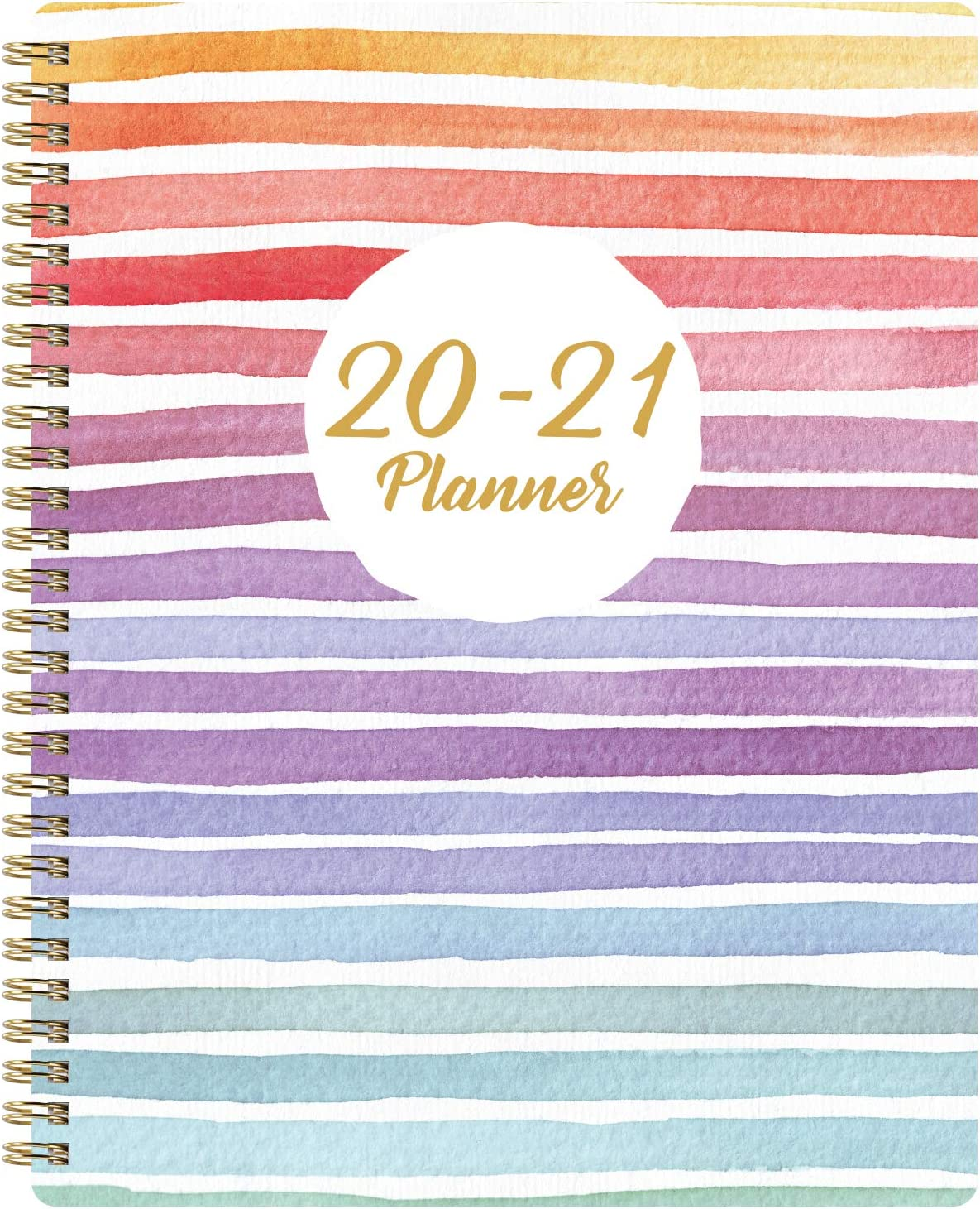 """2020-2021 Planner - Academic Weekly & Monthly Planner with Marked Tabs, 8"""" x 10"""", July 2020 - June 2021, Contacts + Calendar + Holidays, Twin-Wire Binding with Thick Paper - Colorful and Fun"""