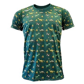Luanvi Edición Limitada Camiseta técnica Dinos, Hombre, Verde, 2XL (60-75cm): Amazon.es: Deportes y aire libre