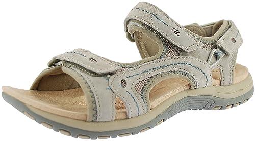 fc689c7ef7b0 Earth Spirit Arlington Ladies Sandals Light Khaki (UK 9)  Amazon.co ...