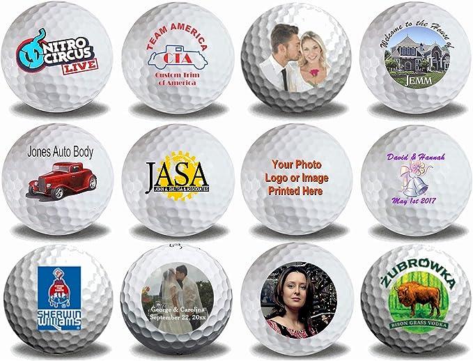 Photo or Logo on White Golf Balls 12 Pack
