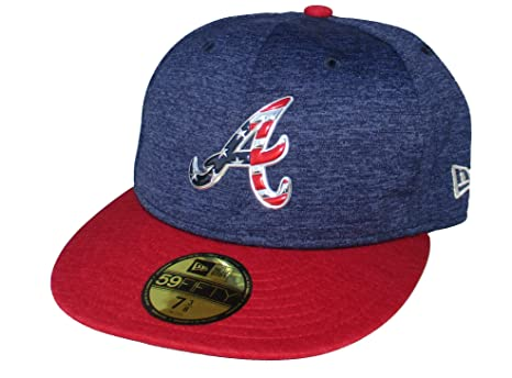 a3bbcab521db86 ... purchase atlanta braves new era 2017 july 4th stars and stripes fitted  hat cap 7 3