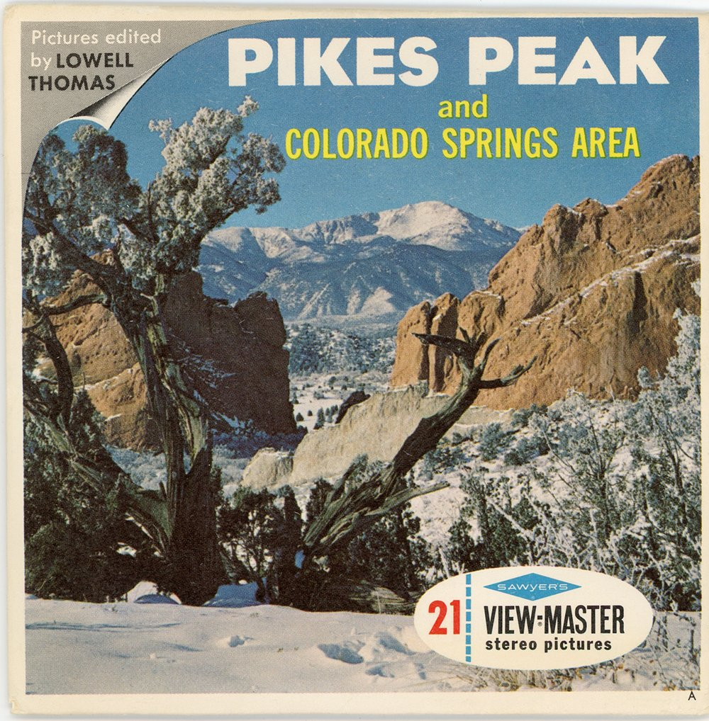 Classic ViewMaster- Pikes Peak and Colorado Springs Area - 3Reel Packet - 21 3D Images from 1950s