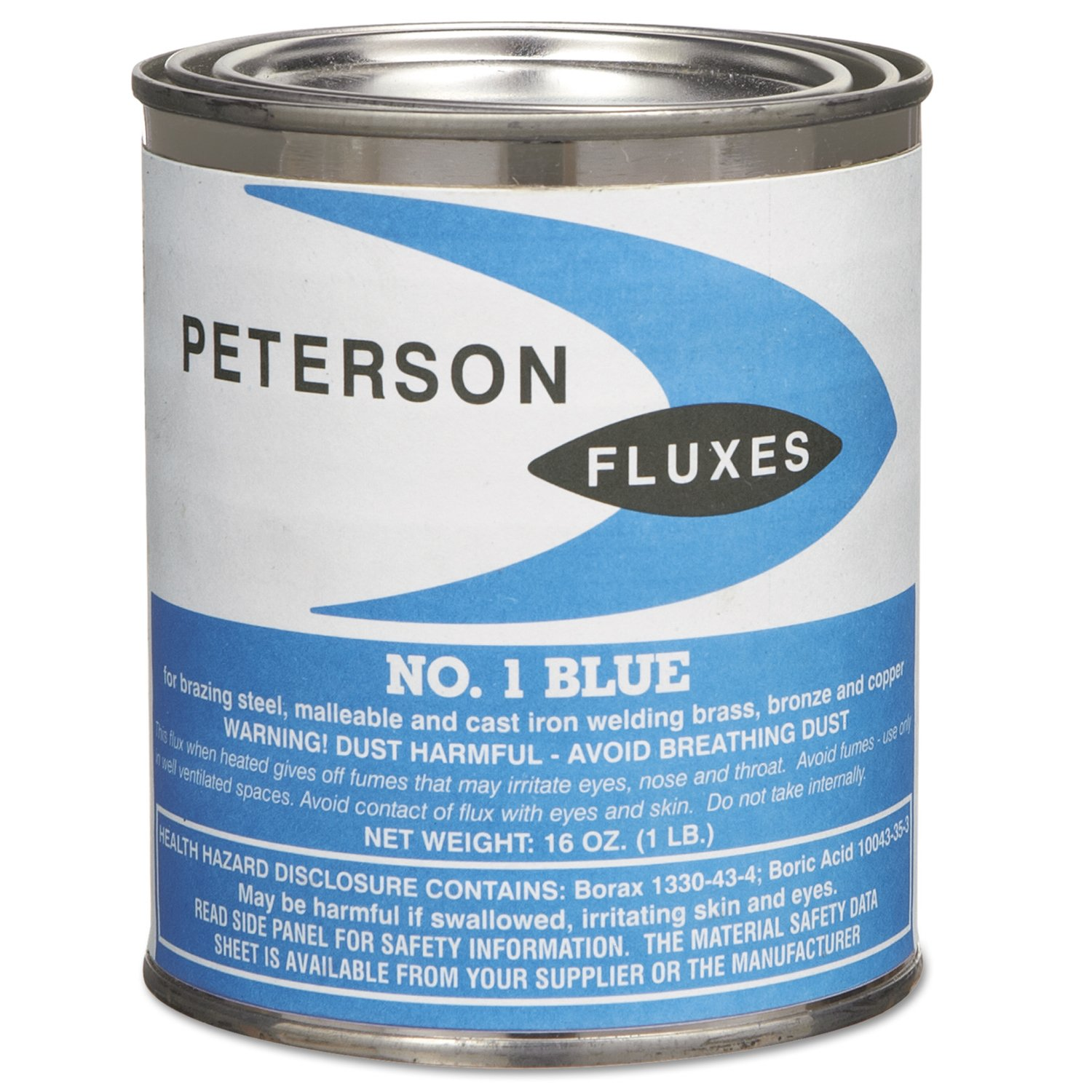 Peterson Fluxes 1 Fluxes, Powder, 1 lb. Jar, Blue Flux