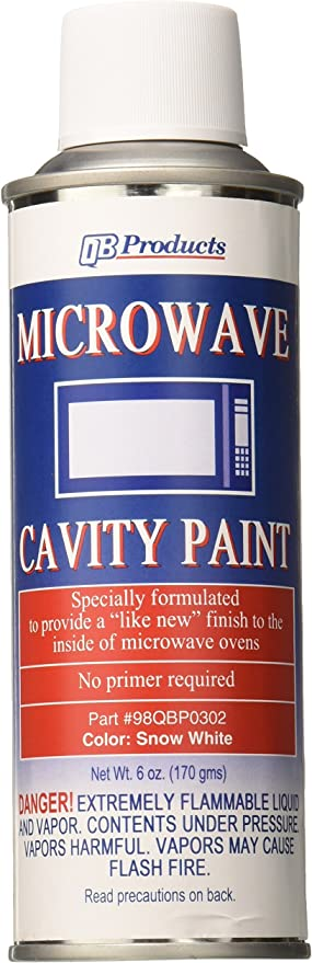 QB Products 98QBP0302 Microwave Cavity Paint, 6 oz, Snow White