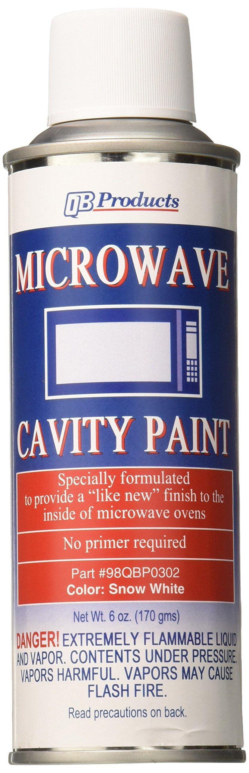 QB Products 98QBP0302 Microwave Cavity Paint, 6 oz, Snow White
