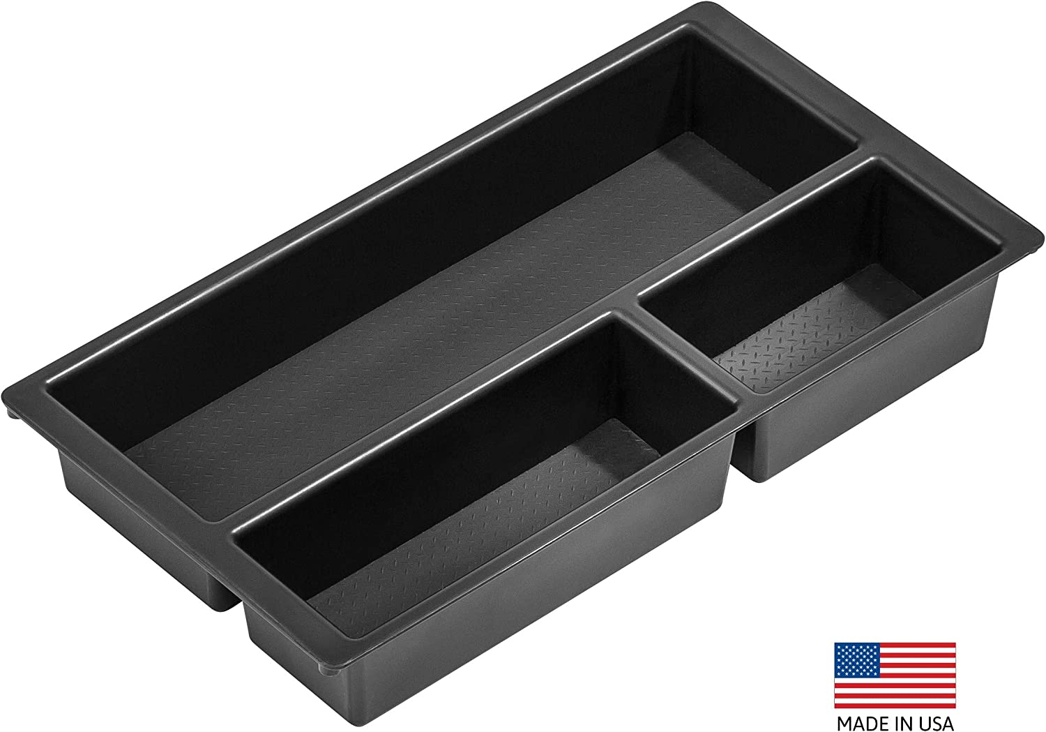 Center Console Organizer Tray for Ford F150 2009-2014 Floor Shift w//Bucket Seat Only - Made in USA Salex Organizers Vehicle OCD