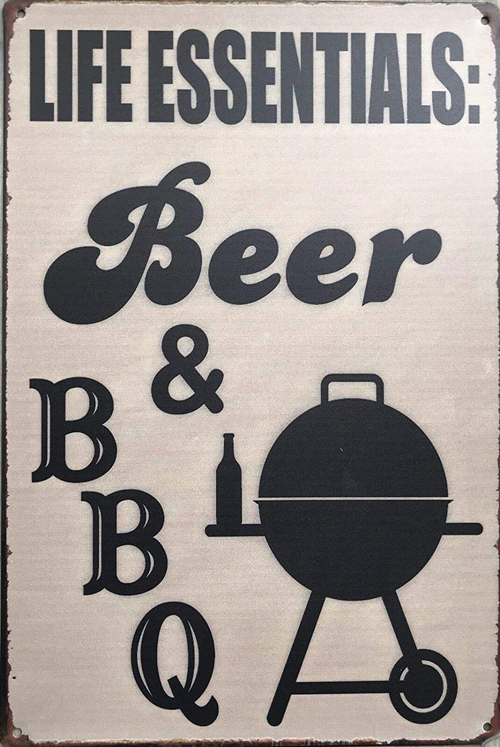 AMELIA SHARPE Metal Sign Wall Decoration - Beer and Barbecue Decoration Family Restaurant Bar Cafe Wall Retro Decoration Sign Tin Sign 12x8 Inch