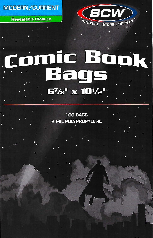 50 cada BCW Resealable Current Comic Book bolsa y juntas ...