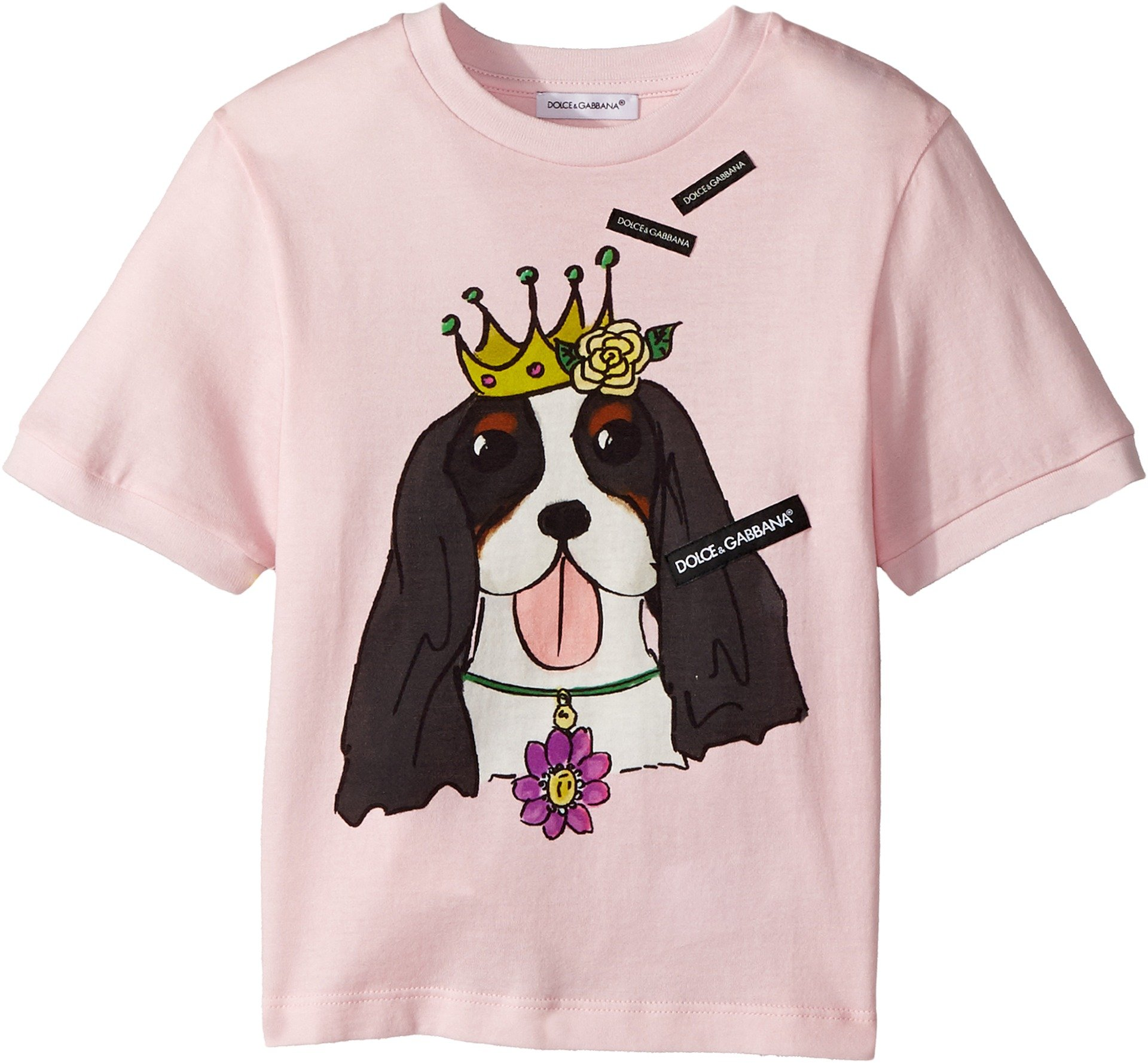 Dolce & Gabbana Kids Baby Girl's T-Shirt (Toddler/Little Kids) Pink Print 3T by Dolce & Gabbana (Image #1)