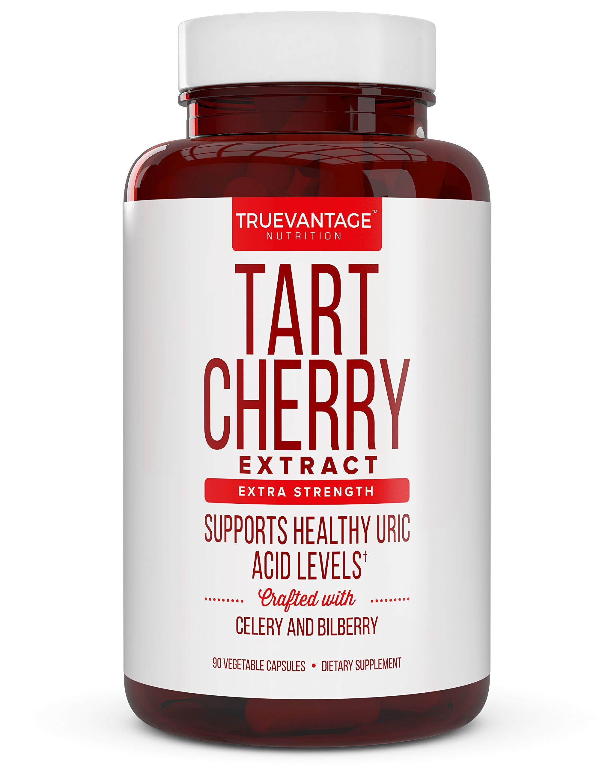 Tart Cherry Extract 1500mg Plus Celery Seed and Bilberry Extract -Anti Inflammatory, Antioxidant Supplement, Uric Acid Support, Muscle Recovery and Joint Pain -90 Veggie Capsules​…