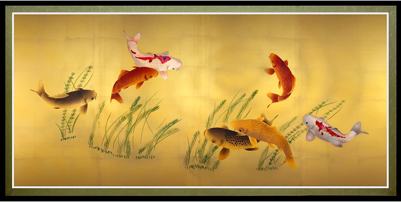 Oriental Furniture Seven Lucky Fish Canvas Wall Art
