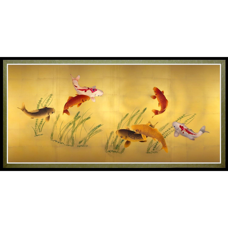 Amazon.com: ORIENTAL FURNITURE Seven Lucky Fish Canvas Wall Art ...
