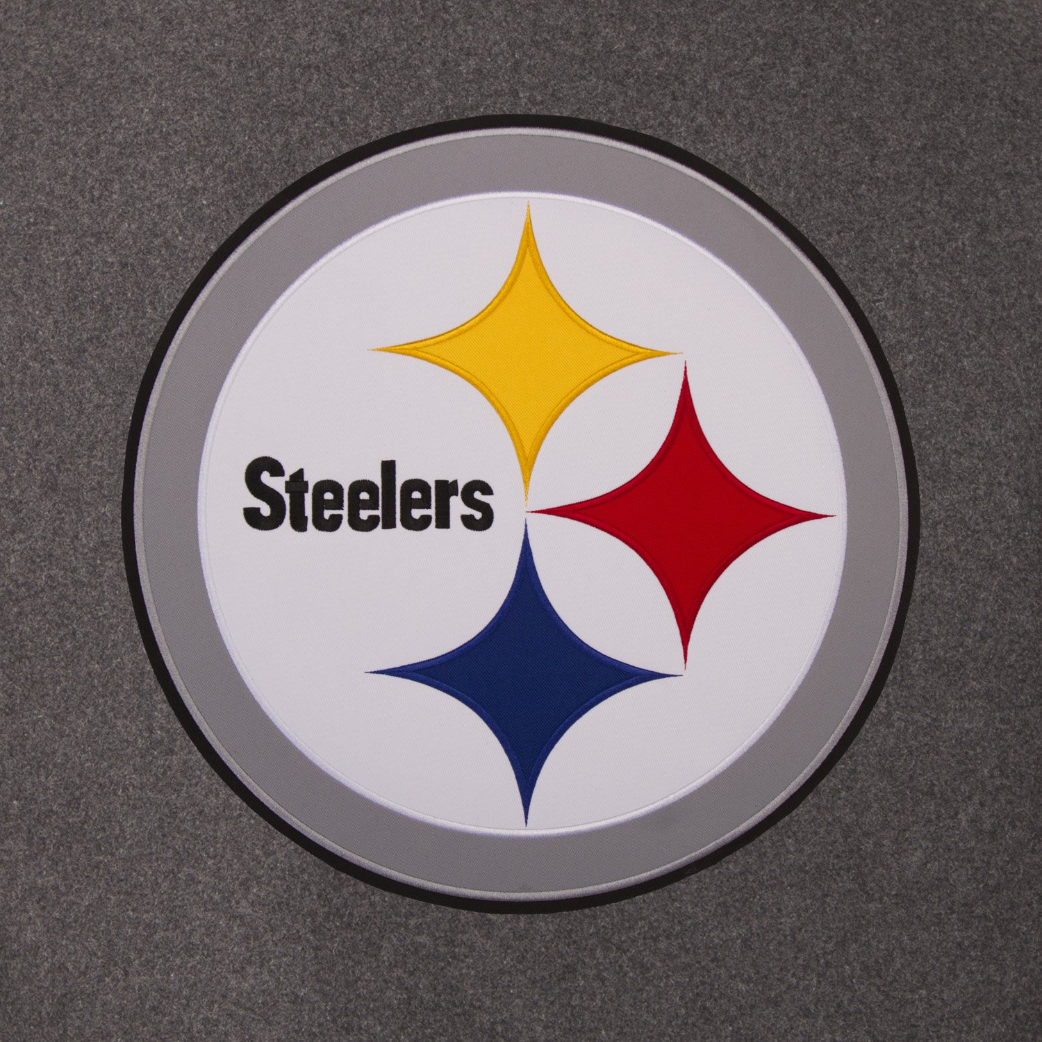 Pittsburgh Steelers Wool Leather Charcoal Black Reversible Sports