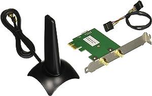 HP N4G85AT Dual Band Wireless AC 7265 Network Adapter PCI Express mini Card 802.11 B/A/G/n, Black/Silver
