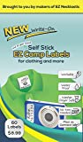 SELF-STICK WRITE-ON EZ CAMP LABELS for Clothing and All Personal Items – 60 No-Iron Kids Clothing Labels - Washer and Dryer Safe